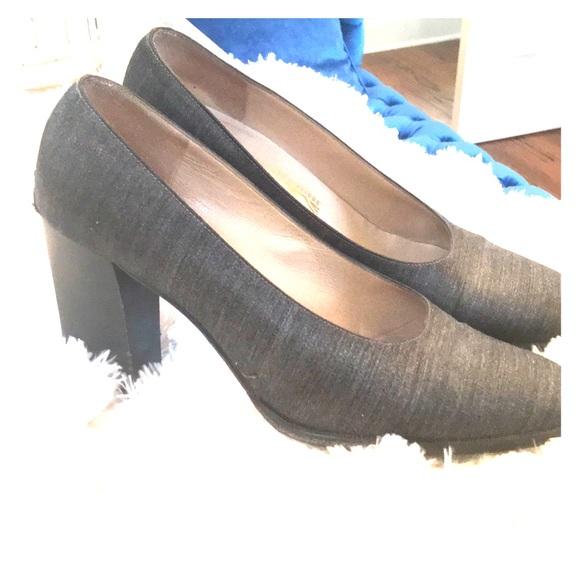 Salvatore Ferragamo Shoes - Ferragamo Italian Grey Fabric Pumps